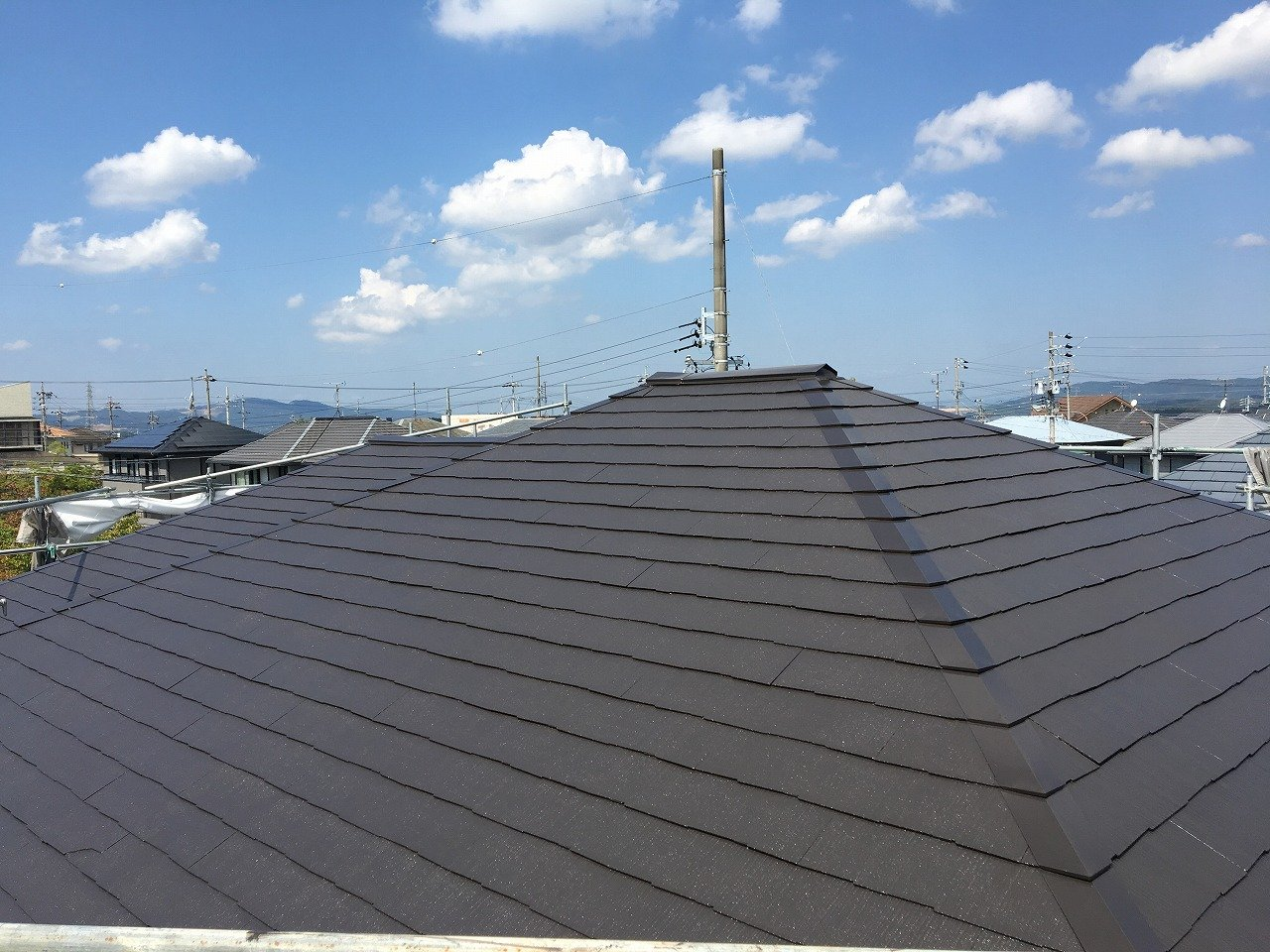 屋根仕上げ後