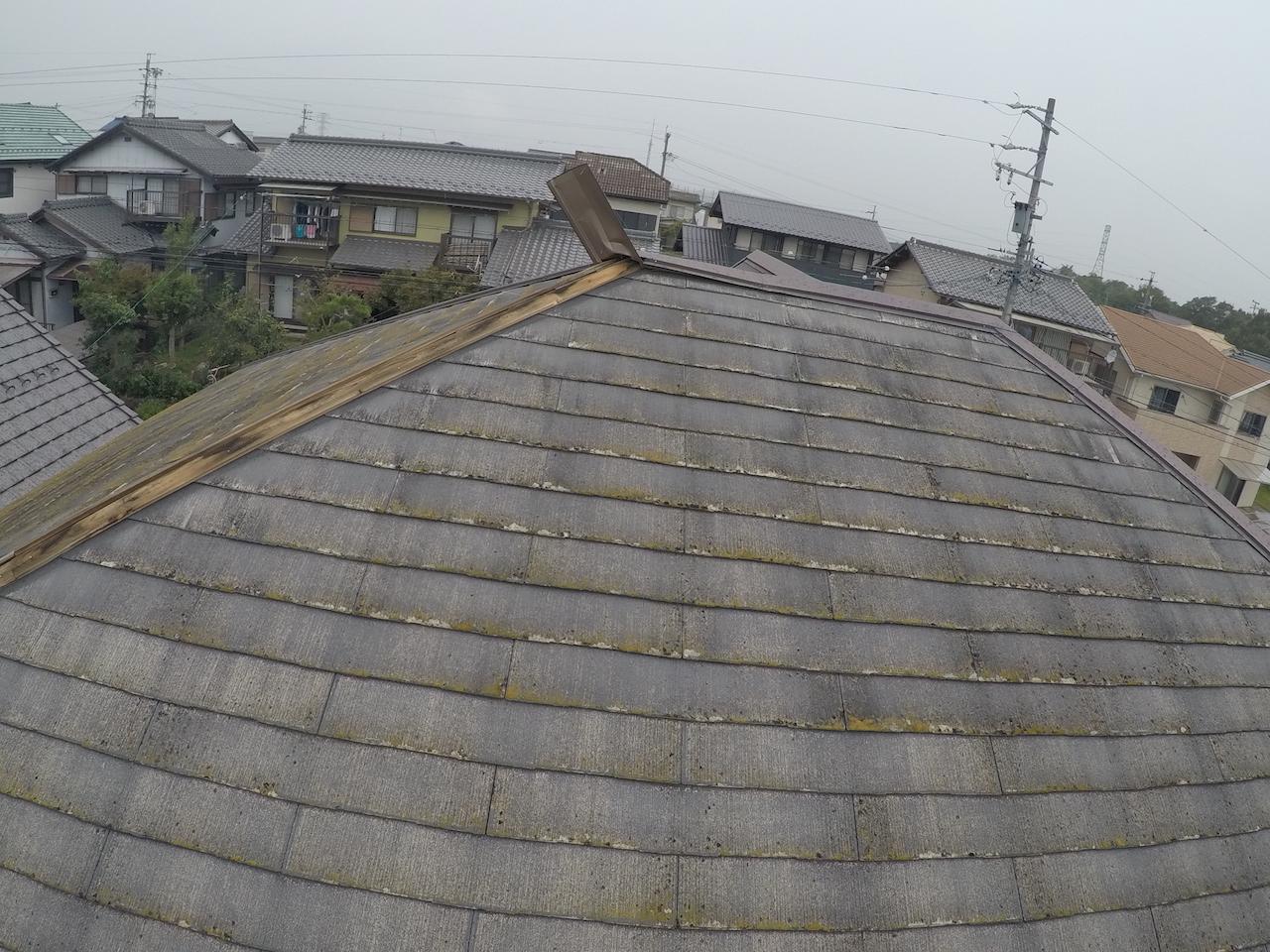 屋根 棟板金めくれ