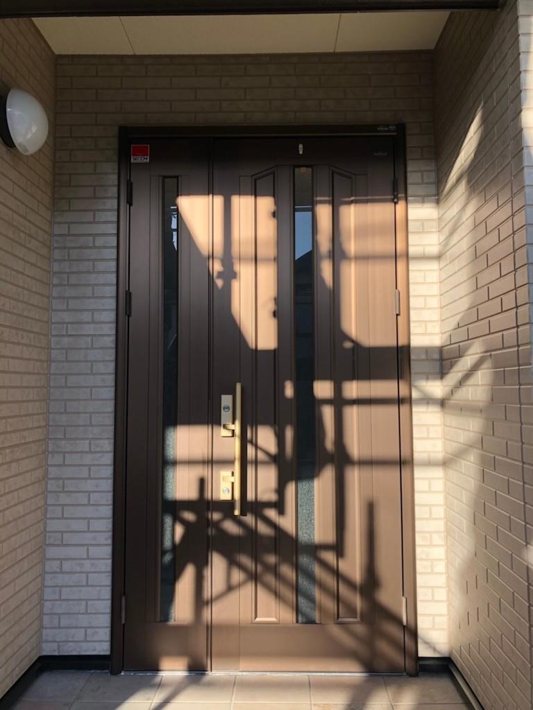 玄関まわり デザイン塗装後