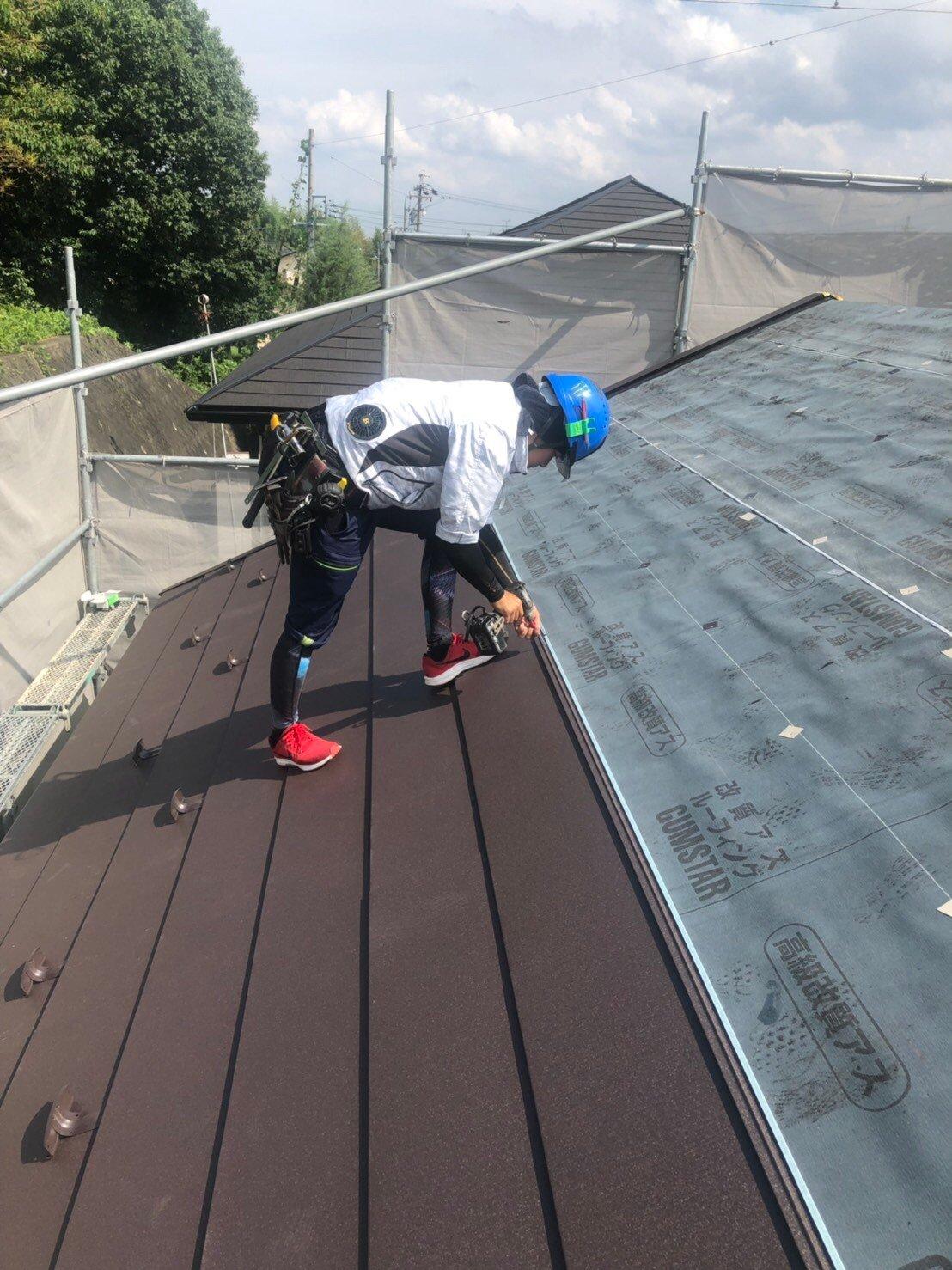 屋根スーパーガルテクト張り