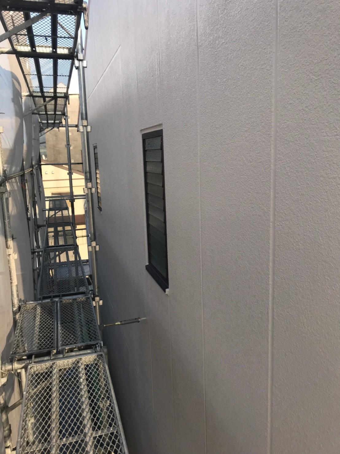 外壁塗装 上塗り後