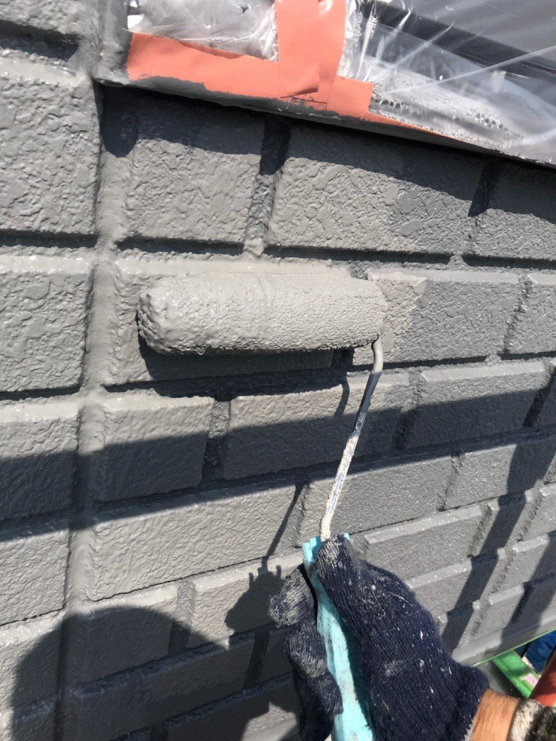 外壁塗装アクセント面 上塗り